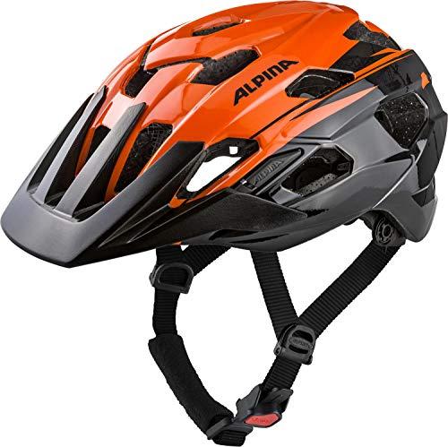 Alpina ANZANA Casco de Ciclismo, Unisex-Adult, Orange-Black, 52-57