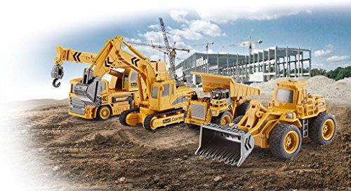 RC Auto kaufen Baufahrzeug Bild 5: Revell Control 23494 RC Baufahrzeug Radlader, 27MHz, Akku ferngesteuertes Auto, gelb-orange, 12,5 cm*