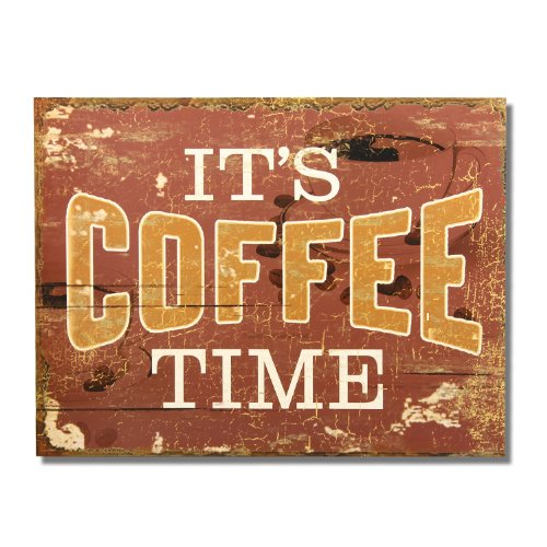 Coffee Wood Wall Hanging Sign Plaque
