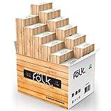 FOLK Papier Taschentuch Box in vielen verschiedenen Designs - 12 Packungen x 100 Tücher = 1200 reißfeste Kosmetiktücher in Premium Qualität - Papiertuchspender mit Taschentüchern -