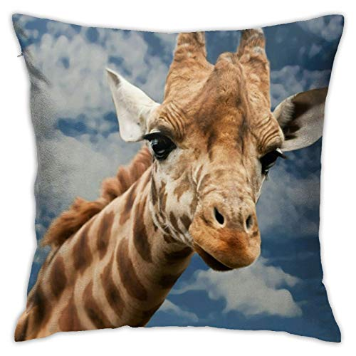 wteqofy Giraffe (3),Pillow Case Throw Pillow Covers Removable Christmas Decorations Lovers Living Room Spas for Sofa Couch Home Decor 18inch*18inch
