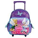 Tinker Bell 12' Rolling Backpack - Periwinkle Small Girls Toddler Wheeled Bag