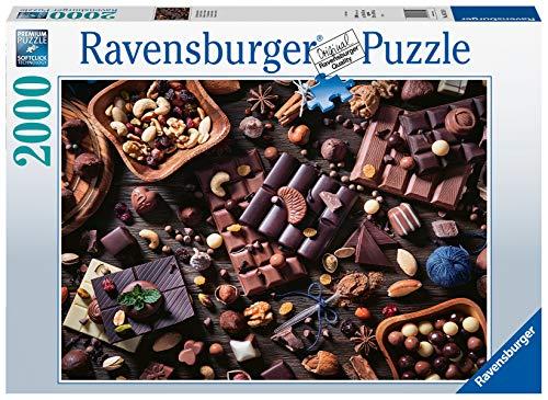 Ravensburger Puzzle 2000 Pezzi, Paradiso di Cioccolata, Collezione Food, Jigsaw Puzzle per Adulti, Puzzles Ravensburger - Stampa di Alta Qualità, Dimensione Puzzle: 98x75cm