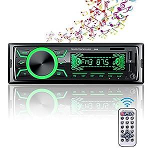Autoradio Bluetooth, Radio de Coche 4 x 60W, Soporta Llamadas Manos Libres MP3/FM/AM/SD/AUX/USB Archivo y Control Remoto Inalámbrico