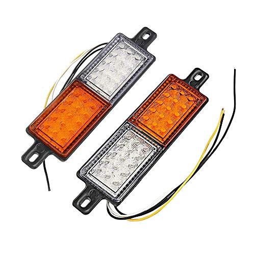 2pcs cola de coches luces traseras 30LED de 2 colores freno Detener la señal de vuelta de la lámpara 12V impermeable universal para Remolque del carro del camión tractor o Zona de Van