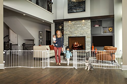Regalo 192-Inch Double Door Super Wide Adjustable Baby Gate and Play Yard, 4-In-1, Bonus Kit, Includes 4 Pack of Wall Mounts