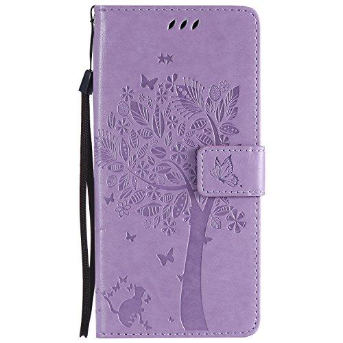 ViViKaya Custodia per Samsung Galaxy S9 Plus, Pelle Flip Libro Portafoglio Protezione Custodia in TPU Cover Protettiva per Samsung Galaxy S9 Plus [Lavanda]