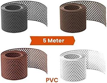 5 Meter L/üftungsband//Vogelschutzgitter Braun 180 mm PVC gerollt