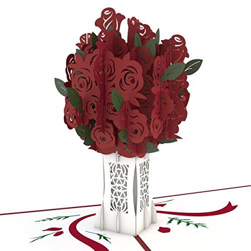 Lovepop Rose Bouquet Pop Up Card - 3D Card, Valentines Day Pop Up Card, Anniversary Card, Valentines Cards, Love Card, Flower Card, Romance Card, Card for Wife