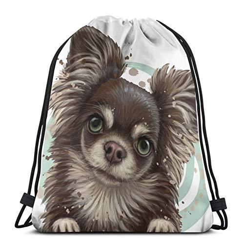 Chihuahua - Borsa da viaggio per bambini, con coulisse, per picnic, palestra, sport, spiaggia, viaggi