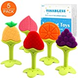Product Image of the Teething Toys (5 Pack) - Tinabless Infant Teething Keys Set, BPA-Free, Natural...