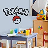 Pokemon Wall Decal Pokemon Decals for Wall Pokemon Vinyl Decal Stickers Pokemon Wall Decals for Kids Rooms Pokemon Ball Decal Pokemon Wall Décor