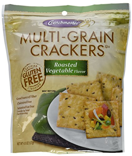 Crunchmaster Multi-grain Crackers Roasted Vegetable 4.5 Oz Bags (Pack of 2) Gluten Free
