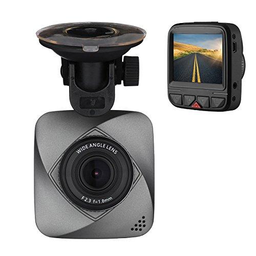 isYoung Petite Caméra embarquée de Voiture HD de 720 Pixels, DashCam DVR avec enregistreur de vidéo en Boucle Capteur-G, Détection de Mouvement (Carte Micro SD Non Incluse)
