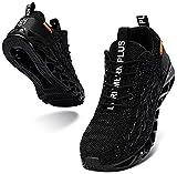 LARNMERN PLUS Homme Baskets Léger Mode Running Chaussure Noir 44