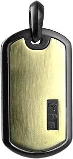David YURMAN Amazing Solid 18K Gold Black Titanium 35 mm Dog TAG 96P