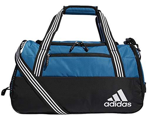 adidas Women's Squad Duffel Bag, Jersey Onix/Clear Aqua/Onix/Sun Glow, ONE SIZE