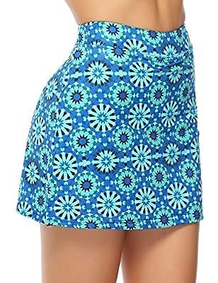 Misterjolly Women's Skort 1/2Pcs Girls Active Athletic Skirt for Running Tennis Golf Workout Sports S-XXL Blue