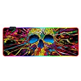 Gaming Mouse Pad Mouse PALITE RGB Grande Mouse Pad Gamer XXL Mouse Mouse Big Pad Pad Scrivania PC Stuoia con retroilluminazione (Color : Violet)