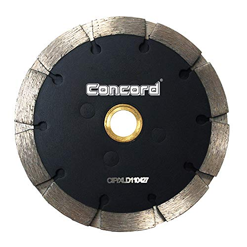 """Concord Blades TPD040A2CP 4"""" Sandwich Tuck Point Diamond Blade 1/4"""" Inch Segment Width for Mortar removal, Grout repair and cleaning of Concrete, Brick, Block, Stone and Masonry applications"""