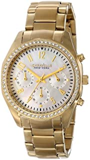 Caravelle New York Women's 44L114 Analog Display Japanese Quartz Yellow Watch