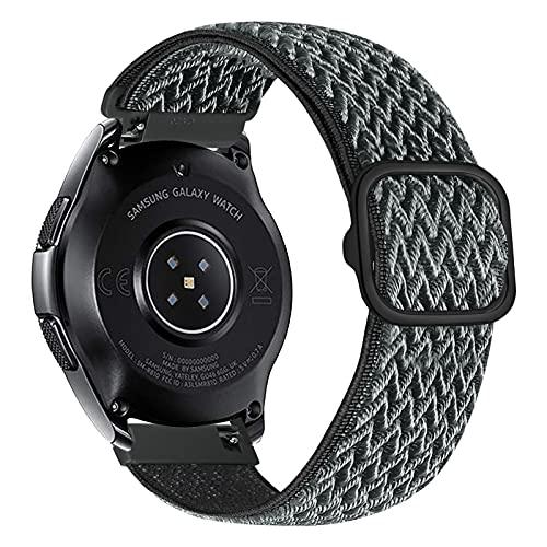 iBazal Correa de nailon trenzado de 22 mm para Samsung Galaxy Watch 3 de 45 mm, para reloj Samsung Galaxy Watch de 46 mm, Gear S3 Frontier Classic, Huawei Watch GT/GT 2 de 46 mm