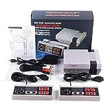 Aiboria Consola de juegos para niños, diseño retro clásico, consola de juegos integrada 620 (algunos se repiten) de 8 bits con doble control para vídeos de TV.