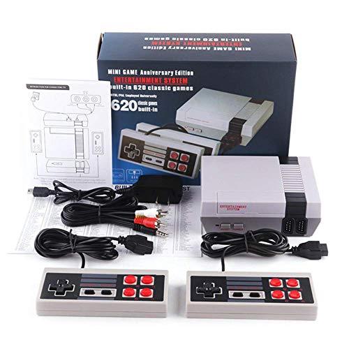 Aiboria Mini console de jeu rétro classique pour enfants - Jeu 620 intégré (certaines sont répétées) - Console de jeu portable 8 bits avec double contrôle pour téléviseur.