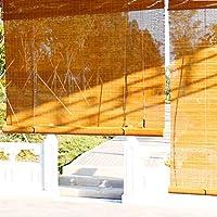 竹のカーテン 竹屋外ローラーシェード、サイドプルと防水UVプロテクションライトフィルタリングロールアップブラインド、ワイド60/80/90/100/120センチ 簡単な (Size : W 80×H110CM)