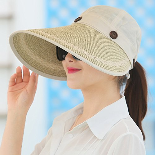 SSBY Frauen-Sommer-sunshade-Fahrradhelm, Outdoor, Sonnenschutz Sonnenschutz, faltbar, große Eaves Hat, B