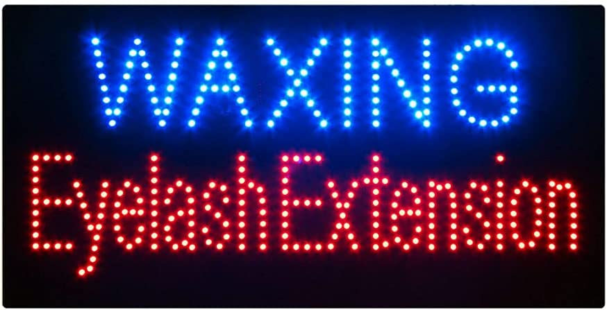 Waxing Eyelash Extension お気に入 大注目 Open Sign Super Bright for Business El