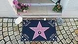 Eule-Design.de Fußmatte Walk of Fame mit Namen Ihr personalisiertes Geschenk für Familie Paare Männer Frauen Hollywood Stern Star (67x44) - 4