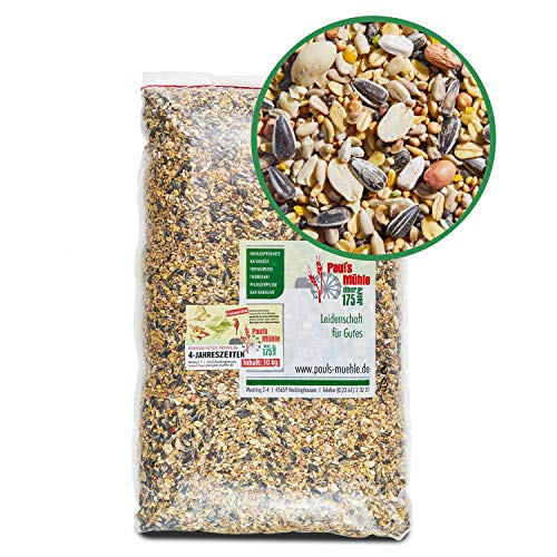 Paul´s Mühle Wildvogelfutter, Ganzjahresfutter für Wildvögel, 4-Jahreszeiten, 10 kg