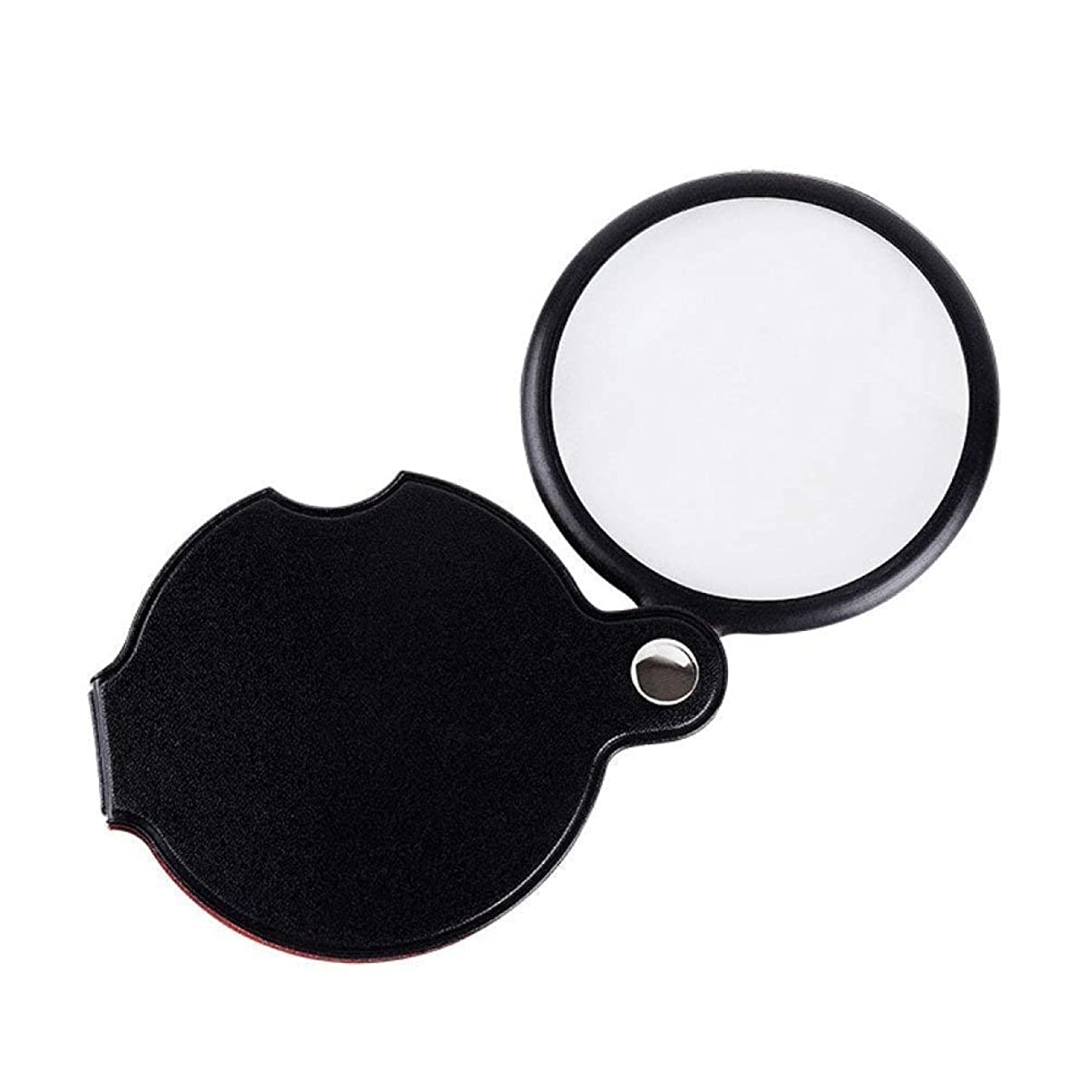 Portable Magnifier Handheld Mini Foldable Magnifier High-3X Clear Lens for Reading Jewelry Marking Watch DIY Craft Engraving and Repair - Black 60 150mm Personalized Desktop Reading Magnifier