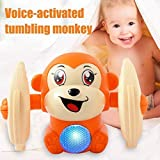 Sky Tech® Dancing and Spinning Rolling Doll Tumble Monkey Toy Voice Control Banana