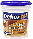 GDM-Fissativo - Aislante acrílico al agua, fondo de preparación para pintura, Dekorté, 750 ml