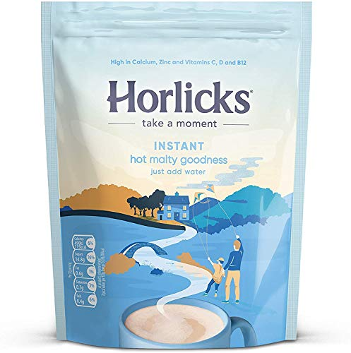 Horlicks Instant Hot Malty Goodness (Malted, 1x 400g Resealable Pouch)
