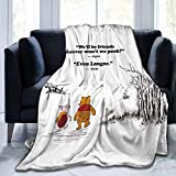 WOMFUI Funny Classic Winnie-The-Pooh Piglet Blanket Best Friend Friendship Quote Gift Throws 50 X 40 in