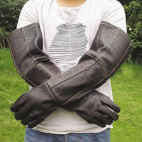 aheadad Schutzhandschuhe beißen für Hunde Pet Handling Handschuhe verstärkt Leder Anti Biss Schutzhandschuhe für Cat Dog Scratch Gartenarbeit Wilde Tiere Schutzhandschuhe