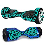 MightySkins Skin Compatible with Hover-1 H1 Hoverboard Scooter - Teal Leopard | Protective, Durable, and Unique Vinyl Decal wrap Cover...
