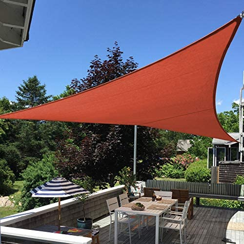Shade Beyond 16 x16 x16 Sun Shade Sail Triangle Canopy Rust Red Outdoor UV Sunshade Sail for product image