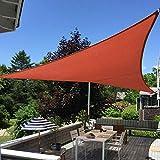 Shade&Beyond 16'x16'x16' Sun Shade Sail Triangle Canopy Rust Red Outdoor UV Sunshade Sail for Patio Yard Backyard Garden Lawn Garden