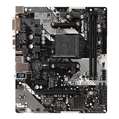 Anjuley A320M-HDV R4.0 Placa Base de Escritorio PC AM4 Socket DDR4 SATA3 Ultra M.2 USB 3.1 VGA HDMI Micro-ATX Placa Base Placa Base A320m-hdv R4.0