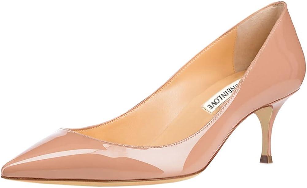 JOY IN LOVE Women's Shoes Low Daily Toe 激安卸販売新品 Kitten Pointy Heels お買得 Heel