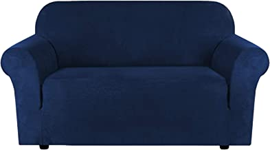 Stretch Suede Sofa Covers for 2 Cushion Couch Covers Sofa Slipcovers Furniture Covers for 2 Seater Sofas, Feature Elastic ...