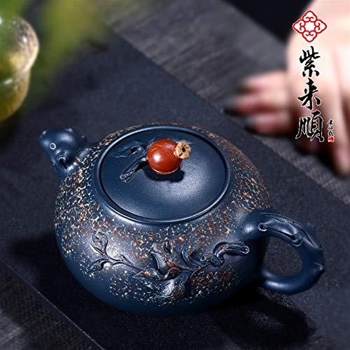 Purple to Shun Green Clay Teapot Notable Hand-Craftsmen Shao Liping Teapot Tea Sets (Color : Pomegranate Pot)