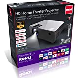 RCA RPJ-133 720p Smart Home Theater Projector Includes Roku Streaming Stick - (Renewed)