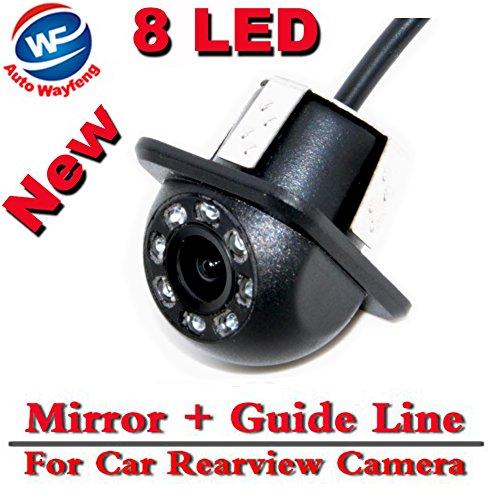 Auto Wayfeng WF® 8 LED HD CCD coche cámara de visión trasera Night Vision Gran angular coche cámara de visión trasera coche de reversión de copia de seguridad para la cámara de monitor de aparcamiento