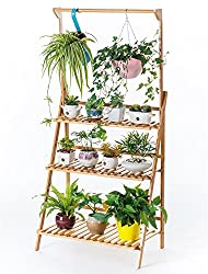 Image of Bamboo 3-Tier Hanging Plant...: Bestviewsreviews