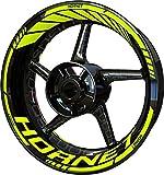 Motocicleta Moto Llanta Inner Rim Tape Decal Pegatinas F2 para Honda CB 600 F CB600F 600F Hornet (Fluo 2)